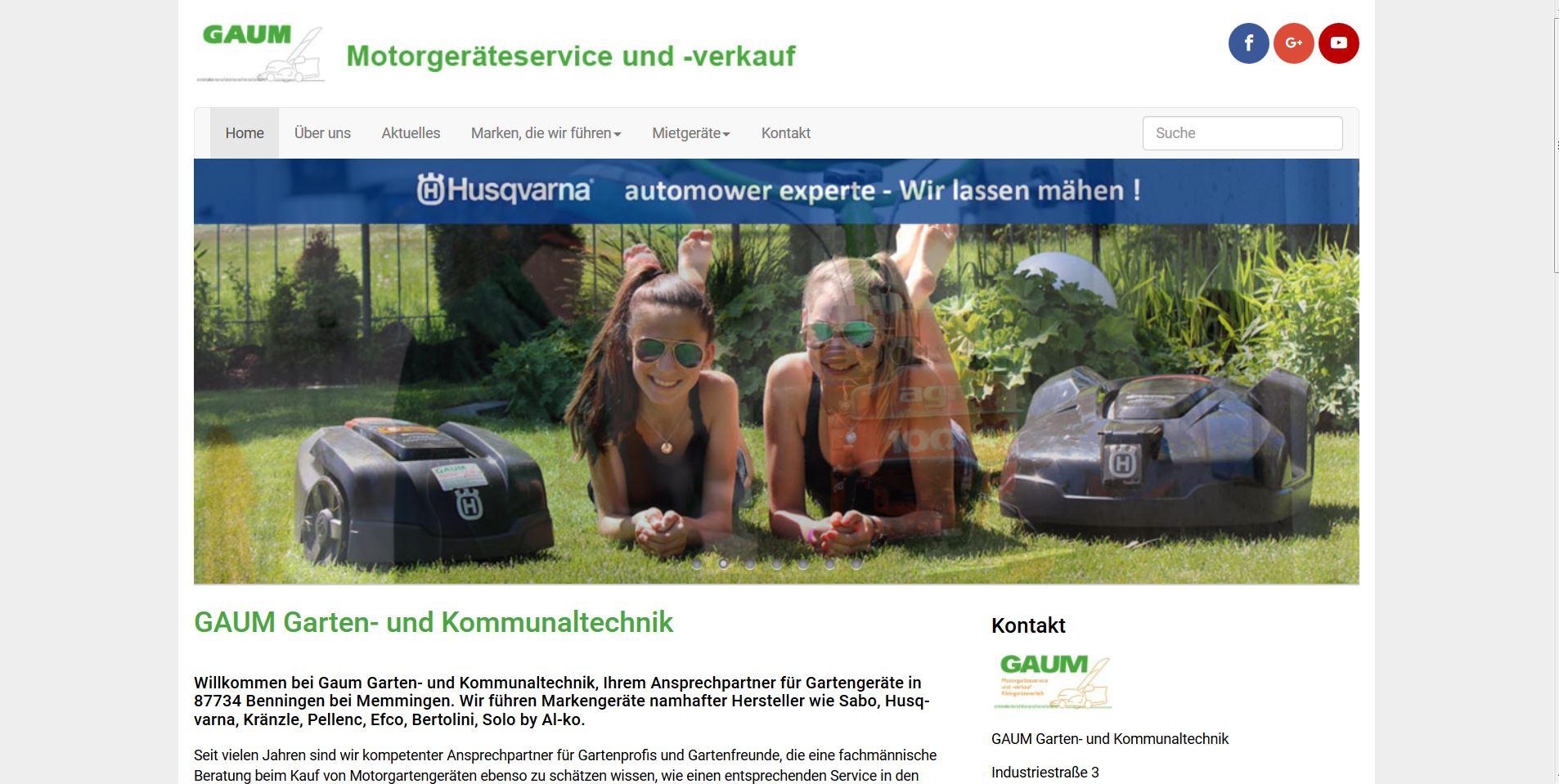 garten-gaum.de Homepage