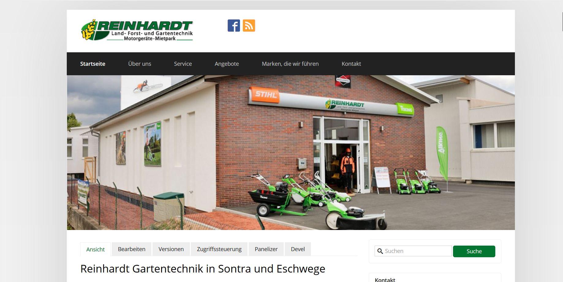 reinhardt-gartentechnik.de Homepage