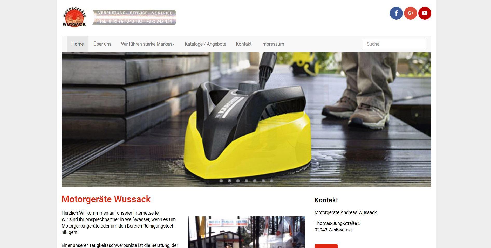 wussack-motorgeraete.de Homepage