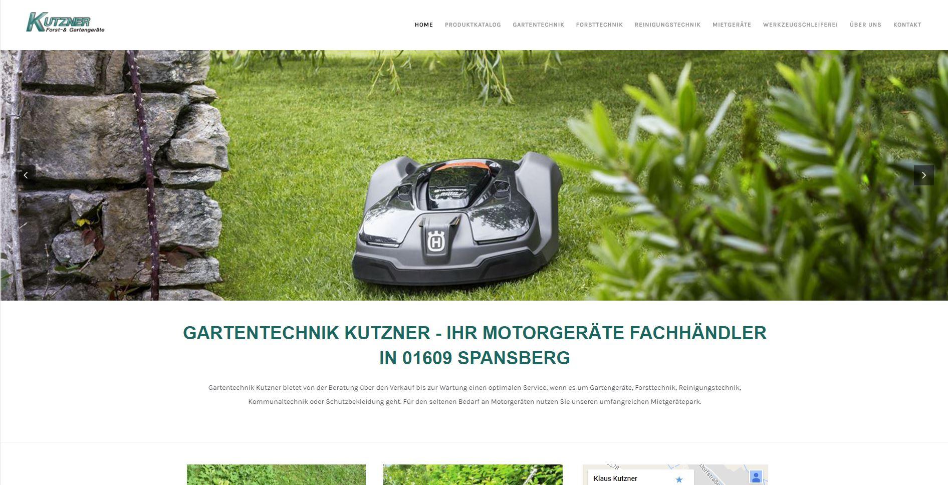 gartentechnik-kutzner.de Homepage