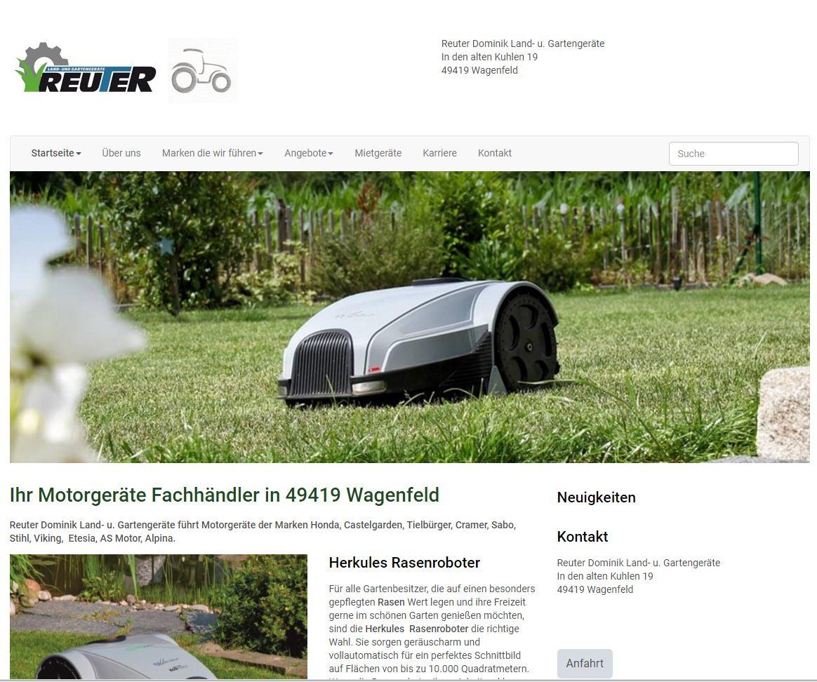 reuter-gartentechnik.de Homepage