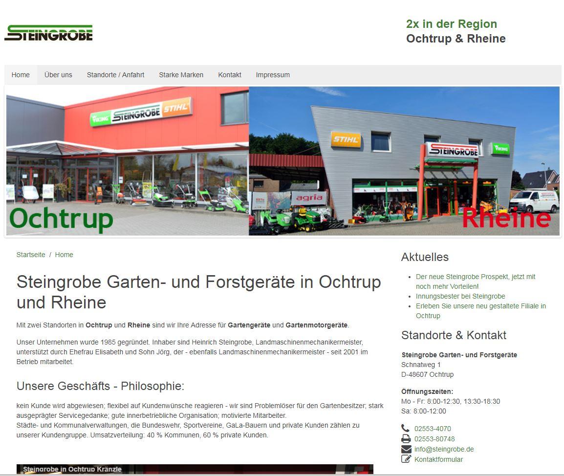 Steingrobe.de Homepage