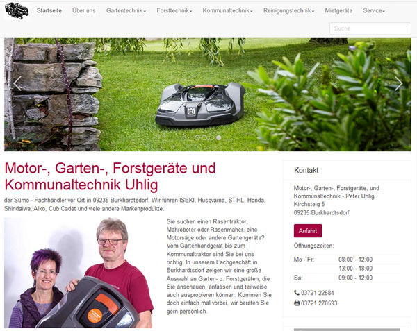 Uhlig Gartentechnik Webseite